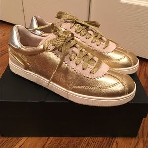 New Coach Gold Sneakers